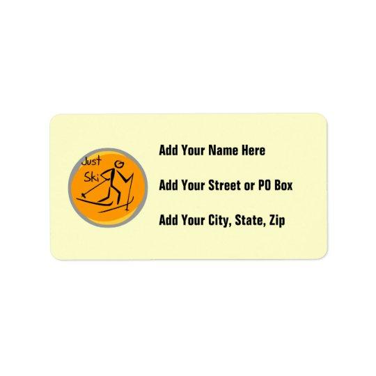 Just Ski T-shirts and Gifts Address Label