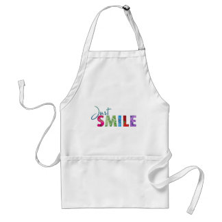 Just Smile Happy Quote #01 Standard Apron