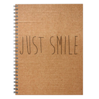 Just Smile notebook