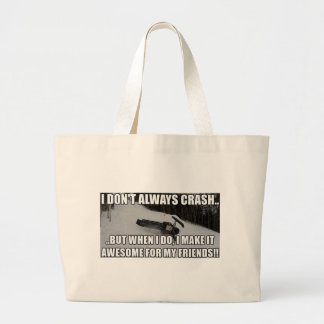 Just Snowmobiles Merch Large Tote Bag