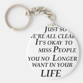 just so we're all clean  it's  okay   to  miss peo basic round button key ring