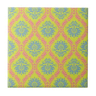 just some funky damask ceramic tile