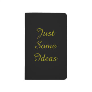 Just Some Ideas Pocket Notebook