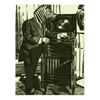 just some Zebra Music Postcard