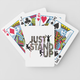 Just Stand Up Bicycle Playing Cards