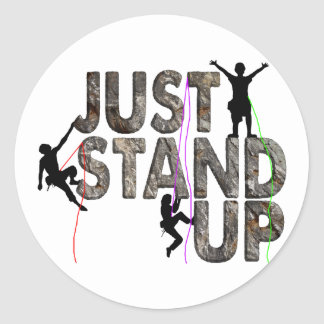 Just Stand Up Classic Round Sticker