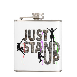 Just Stand Up Hip Flask