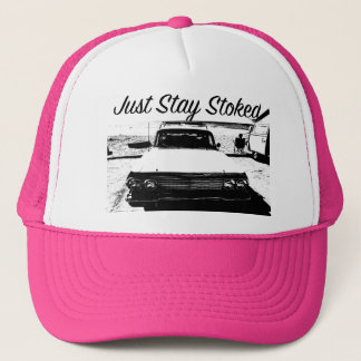 Just Stay Stoked Surfer Girl Classic Car Cali Hat