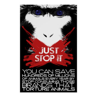 JUST STOP IT POSTER