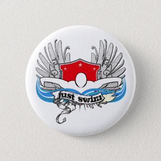 Just Swim 6 Cm Round Badge