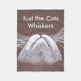 JUST THE CATS WHISKERS FLEECE BLANKET