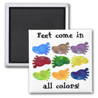 Just the Right Foot Refrigerator Magnet