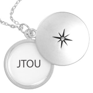 Just Thinking Of You.ai Round Locket Necklace