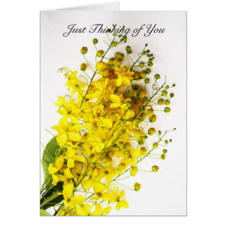 """Just Thinking of You"" Yellow Buds Note Card"