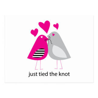 just tied the knot postcard