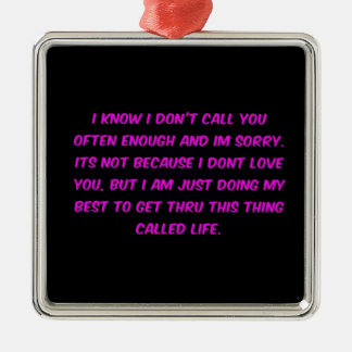 JUST TRYING TO GET THROUGH LIFE MENOPAUSE EMO FRIE METAL ORNAMENT