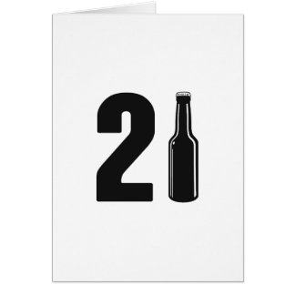 Just Turned 21 Beer Bottle 21st Birthday Card