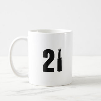 Just Turned 21 Beer Bottle 21st Birthday Coffee Mug