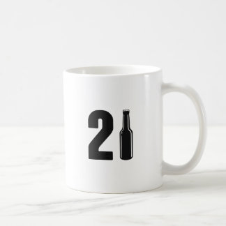 Just Turned 21 Beer Bottle 21st Birthday Coffee Mug