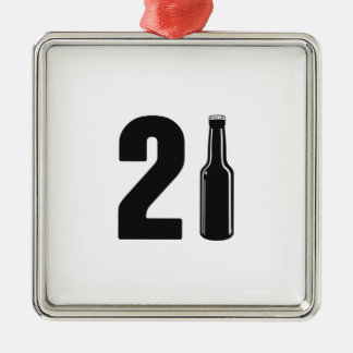 Just Turned 21 Beer Bottle 21st Birthday Metal Ornament