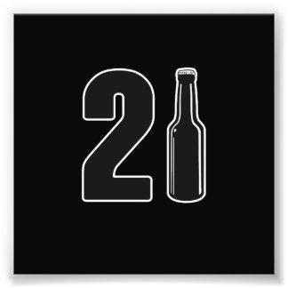 Just Turned 21 Beer Bottle 21st Birthday Photo Print