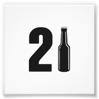 Just Turned 21 Beer Bottle 21st Birthday Photographic Print