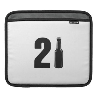 Just Turned 21 Beer Bottle 21st Birthday Sleeve For iPads