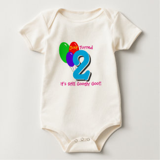 Just Turned (2) Two - (baby birthday humor) Baby Bodysuit