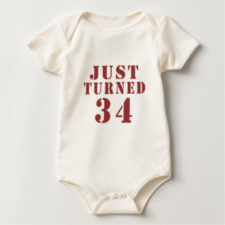 JUST TURNED 34 BABY BODYSUIT