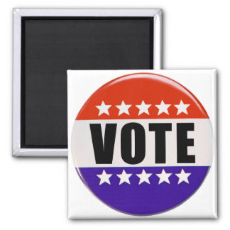 """Just Vote 2"""" Size Magnet"""