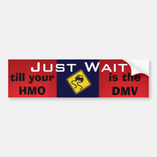 Just Wait Universal Healthcare Bumper Sticker