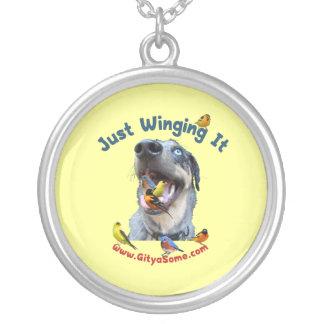 Just Winging It Bird Dog Custom Necklace