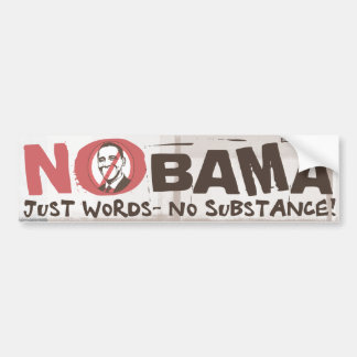 Just Words, No Substance Bumper Sticker