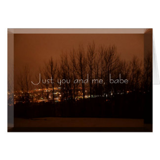 Just you and me card