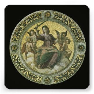 Justice by Raphael, Vintage Renaissance Art Personalized Invite