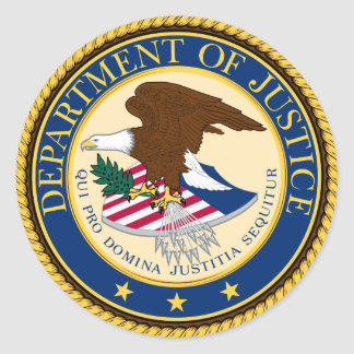 Justice Department Classic Round Sticker