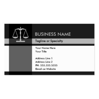 justice elegance business card template