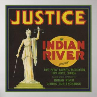 Justice Florida Crate Label Poster