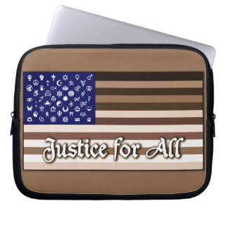 Justice for All Flag Laptop Sleeve