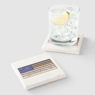 Justice for All Flag Stone Coaster
