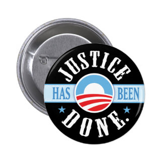 Justice Has Been Done Buttons - 10 Donated