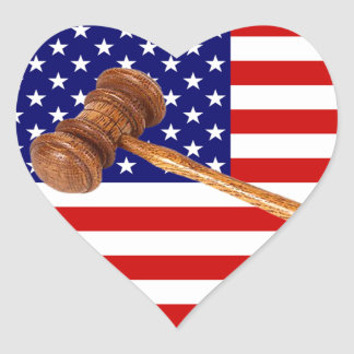 JUSTICE HEART STICKER