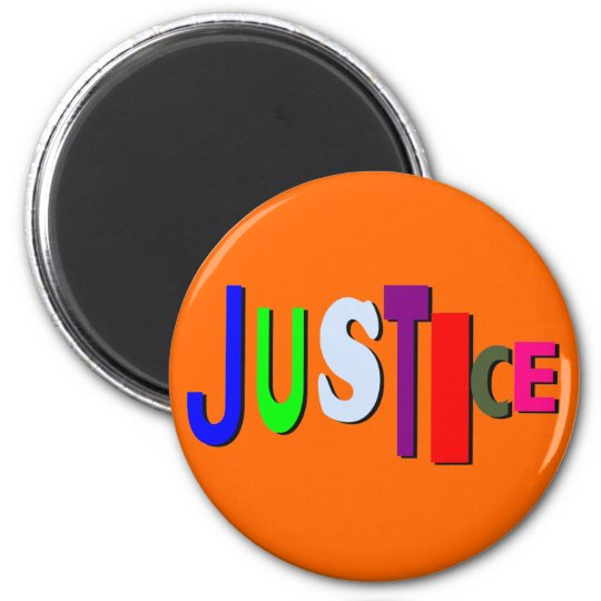 Justice in Colour Round Magnet B