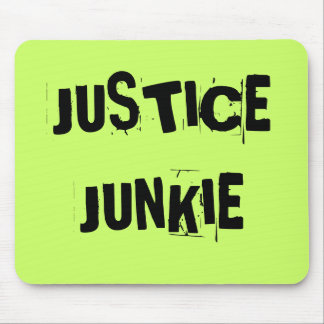 JUSTICE JUNKIE - Rude Lawyer or Judge Nickname Mouse Pad