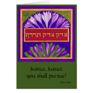 Justice Justice You Shall Pursue Card