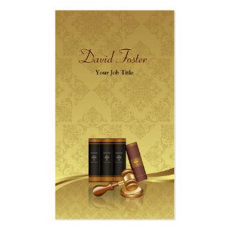 Justice Lawyer Attorney - Elegant Gold Leaf Damask Pack Of Standard Business Cards