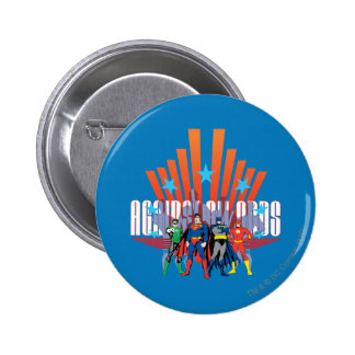 """Justice League """"Against All Odds"""" 6 Cm Round Badge"""