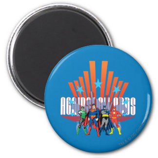 "Justice League ""Against All Odds"" 6 Cm Round Magnet"