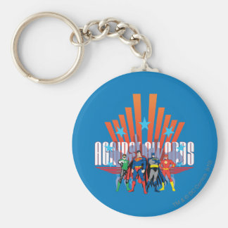 "Justice League ""Against All Odds"" Basic Round Button Key Ring"