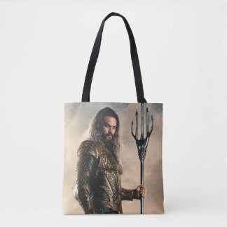 Justice League | Aquaman On Battlefield Tote Bag